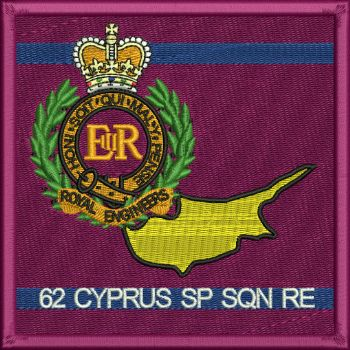 62 Cyprus SP SQN RE embroidered badge SALE